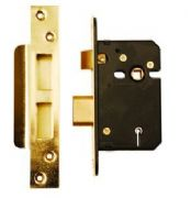 Brass 63mm BS3621 5L Mortice Sashlock - (Clam Packed)